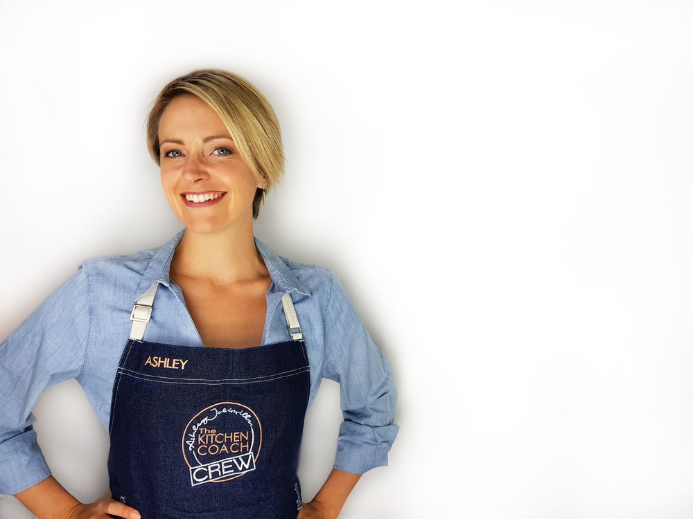 Hi there! - I'm Ashley, The Kitchen Coach, I help families all around the world upgrade their world of food. I break down the complexity of kitchen skills, share how to shop for groceries smarter and teach simple time saving hacks that have already changed 100's of lives! Discover my online programs and events below.