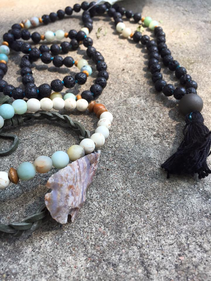 Warrior Angel Mala and Arrowhead Bracelet