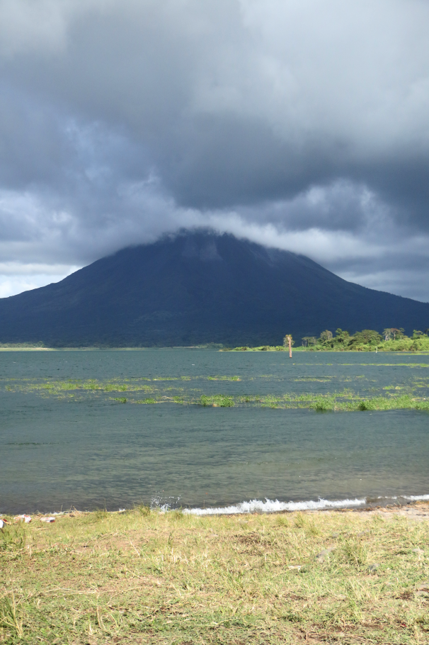 Behind the volcano, Lake Arenal