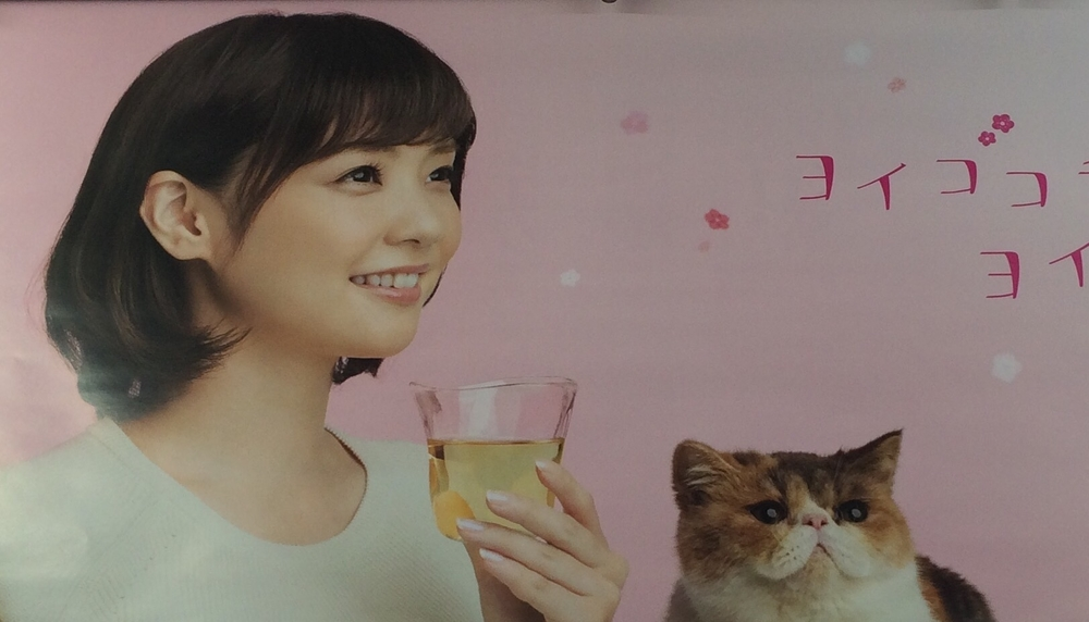 We just loved this kitty ad on the Yamanote!