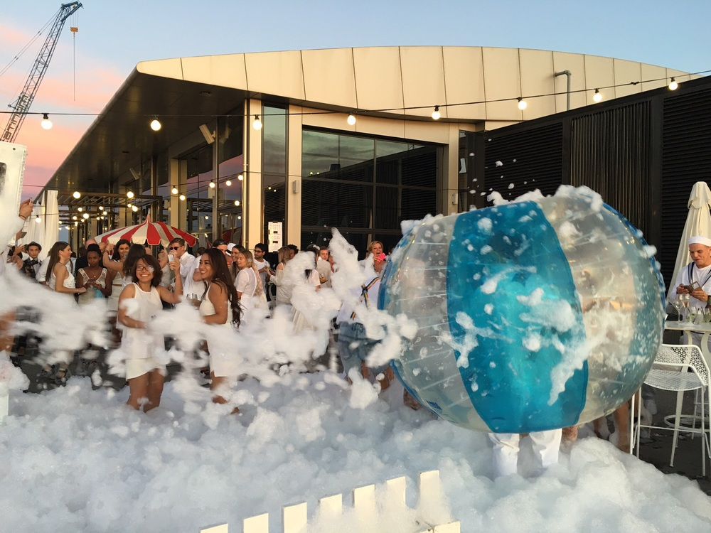 Dance Floor Foam Party Bubble