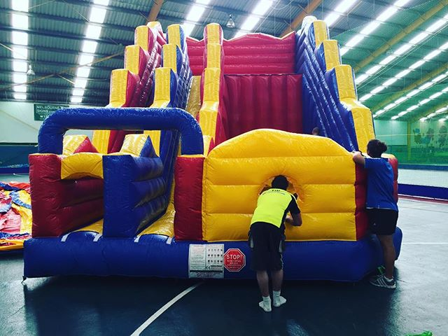 Pleased to introduce Cliff, the newest member of or team #bounceworld #cliff #cliffjump #slide #inflatable