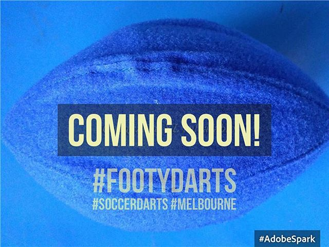 Velcro #afl style #footballs are now in production! 🏉⚽️ #footydarts #footdarts #soccerdarts #footballdarts #afl #localfooty #velcro #darts #giantdartboard #melbourne #aussierules #australianfootball #rugbyleague #rugby #triplemfooty