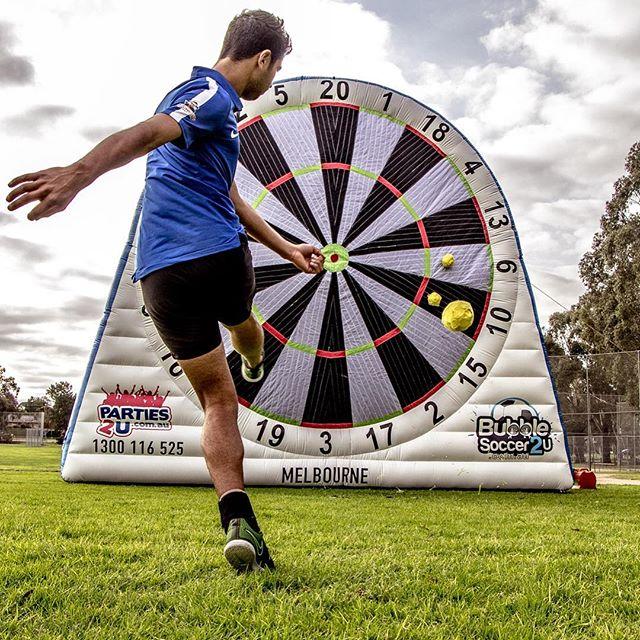 Welcome to Melbourne! #soccerdarts #footdarts #footballdarts #melbourne #parties2u #bubblesoccer2u #bubblesoccermelbourne #futsal #soccer #football #footy #localfooty #footydarts #darts #cricketdarts #melbournelife #melbourneeats #melbournefood