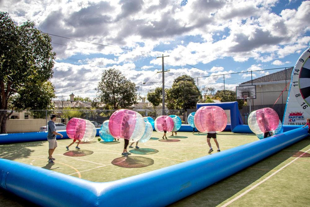 Red vs. Blue Bubble Soccer