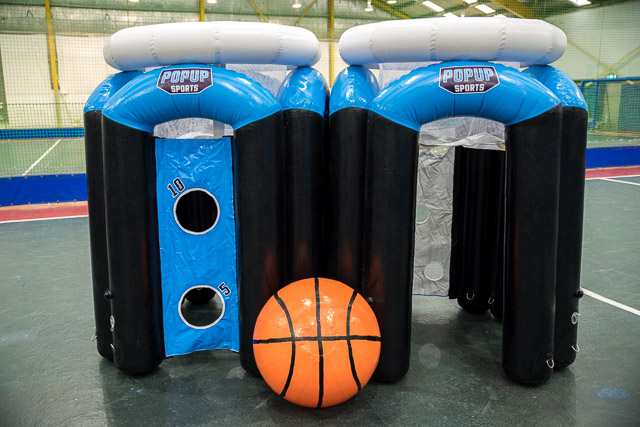 <p><strong>Giant Basketball</strong>Inflatable Basketball.<i>See More →</i></p>