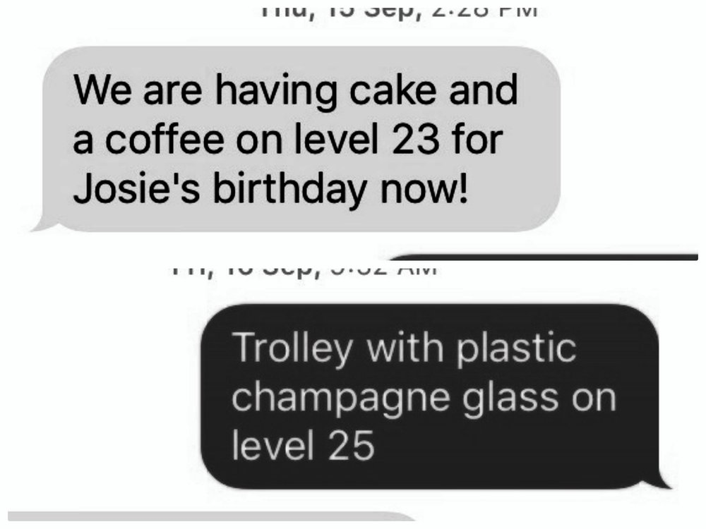 Actual TEXTS from a work site