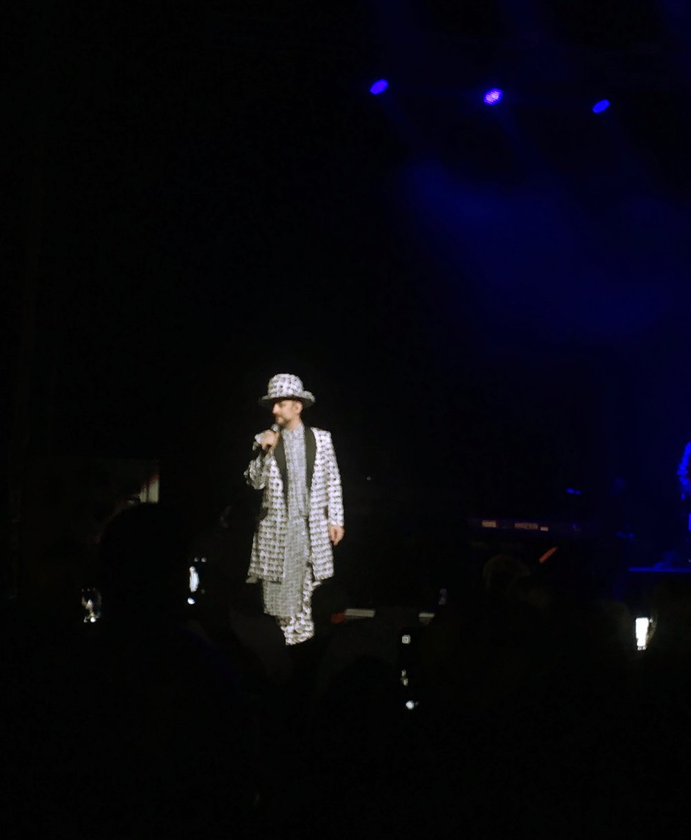 THE HEALING POWERS OF BOY GEORGE IN CONCERT….TAKEN BY EMMA-JANE (iPhoneSE)