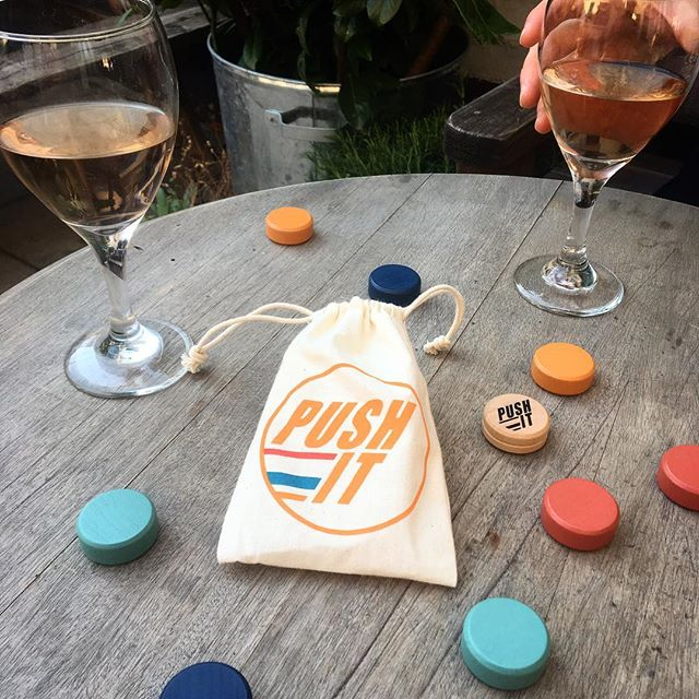 Summer starts here! Push It + rosè = winning #heatwave #games #tabletop #pubgames #hotfuninthesummertime #londonlife #britishsummer #gaming #boardgames