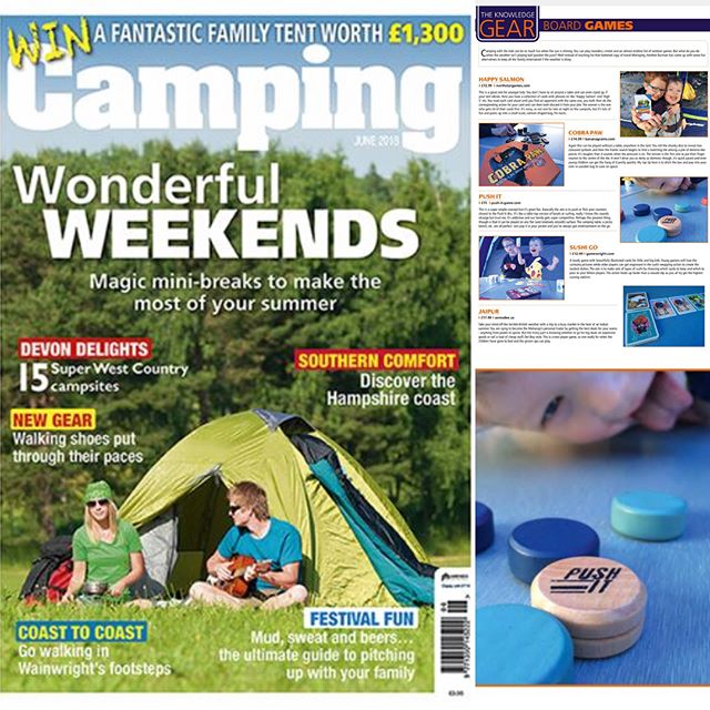Woop woop, we made it into the fab Camping ⛺️ mag. Super excited, alongside some epic games. #Dobble #bananagrams #sushigo. @bananagramsinc @spot.it.dobble #camping #games #tabletop #summer #travelgame #tenting