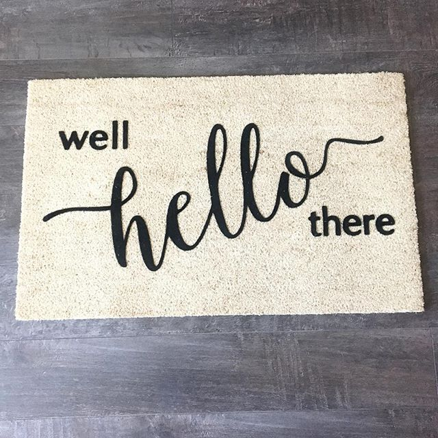 Love our welcome mat for the new house! Check my story for some of the other new items we've purchased so far!