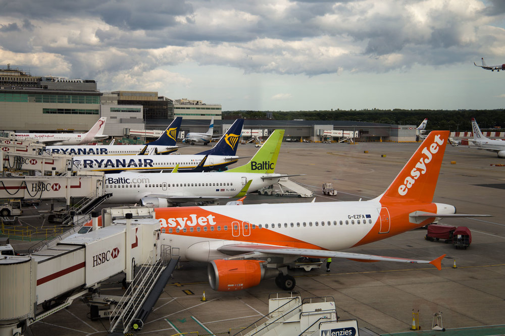 Some of the biggest Budget Airlines next to each other.