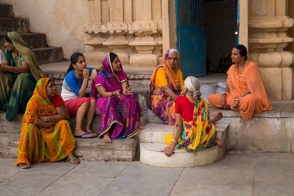 Indian Women Chatting.