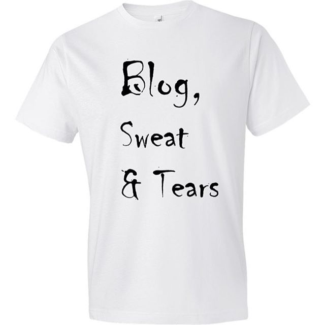 Blog, sweat and tears tshirt.  A great gift for your blogging pals #blog #tshirt #desiguntapped #gifts