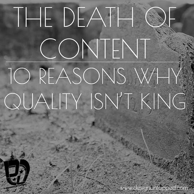 Is #content no longer important for #success, take a read over at the designuntappe.com/blog and let me know  #deathofcontent #contentmarketing #contentisking #smallbiz #blogpost #designuntapped #design