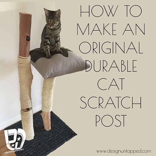 Getting a little crafty and made this for my cats, take a look over at www.designuntapped  #diy #project #design #cats #catscratcher #designuntapped