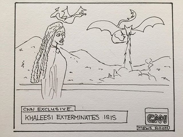 But at least someone could stop Isis #khalessi #gameofthrones #dragons #sketch #realgameofthrones #got7