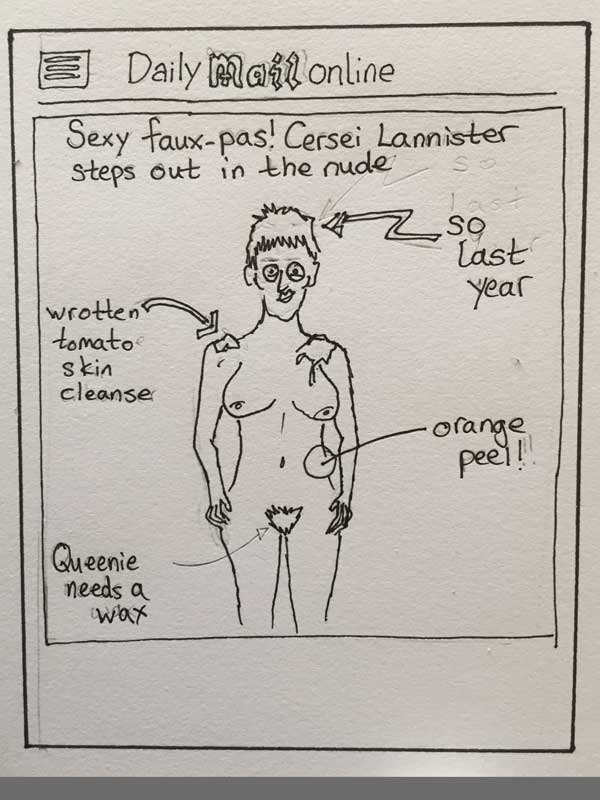 Game of Thrones Cersei Lannister Walk of Shame DailyMail Mickup Sketch.jpg