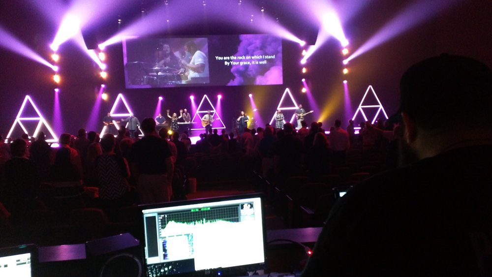 Worked with the audio team at the Worship Center in Lancaster, PA