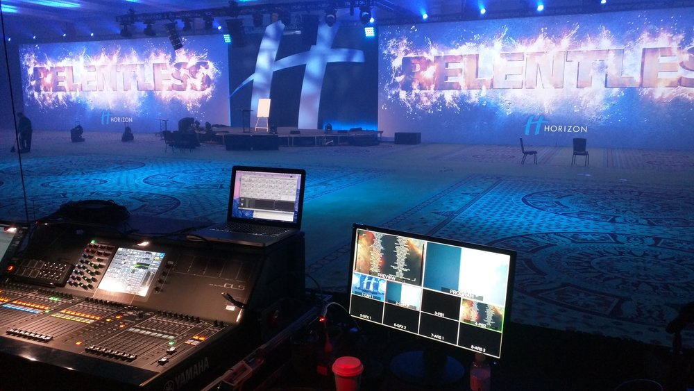 FOH for corportate show at Caesars Palace, Las Vegas