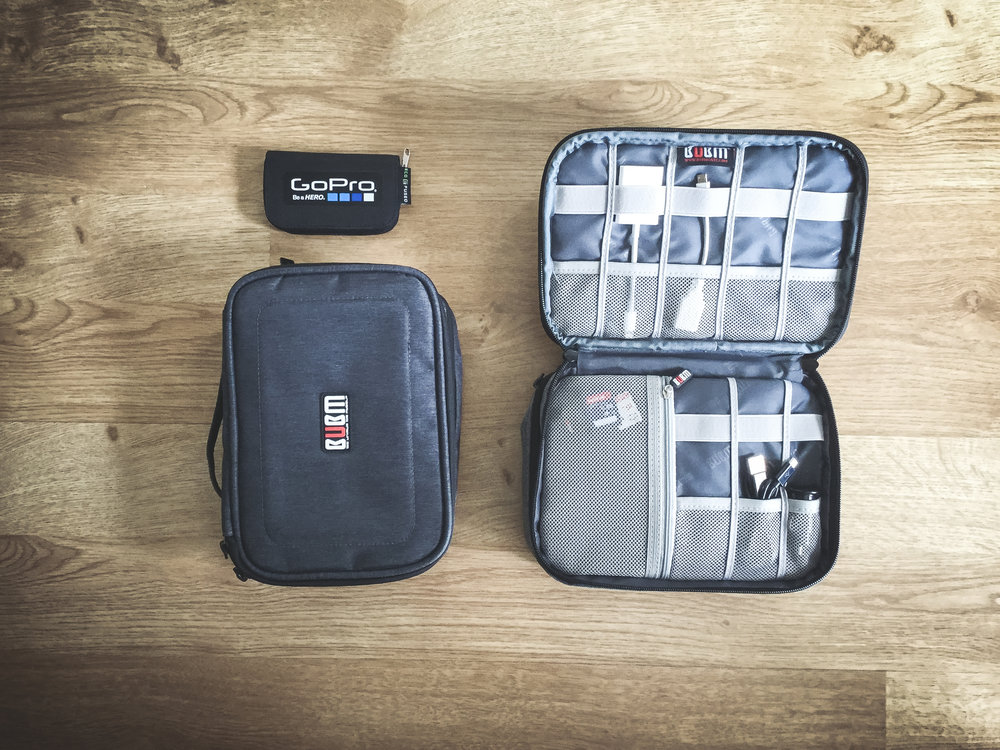 BUBM Travel Organiser - Having everything organised particularly on long trips has made my life so much easier. No more lost memory cards, no more missing cables. Even when I'm not on the road I keep everything nice and tidy in there so it's always ready to go. It's a cheap and easy way to make travelling much more hassle free.