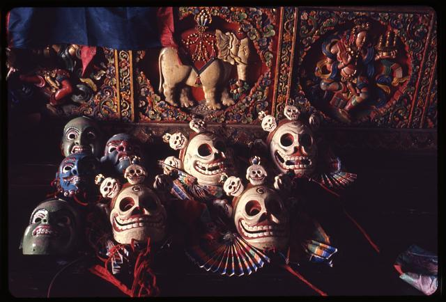 """Deity and Skeleton Masks"" 