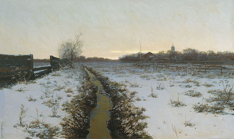 A Winter Night | Konstantin Pervukin | 1888 | sourced via Wikimedia Commons