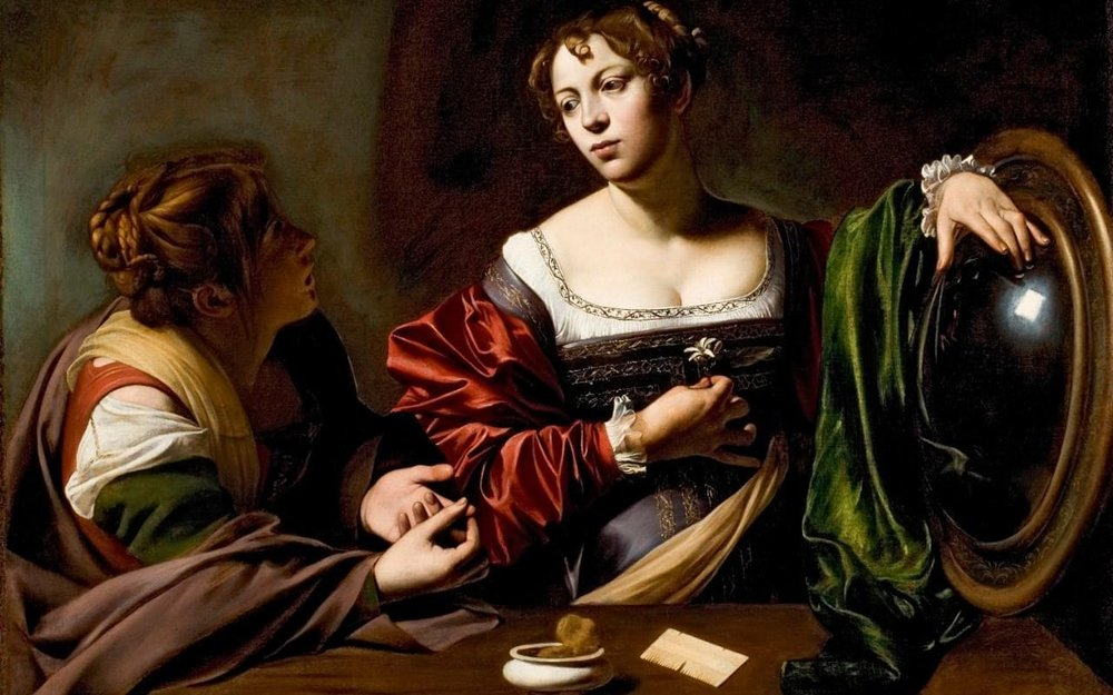 Michelangelo Caravaggio | Martha and Mary Magdalene | 1598 | via Wikimedia.org