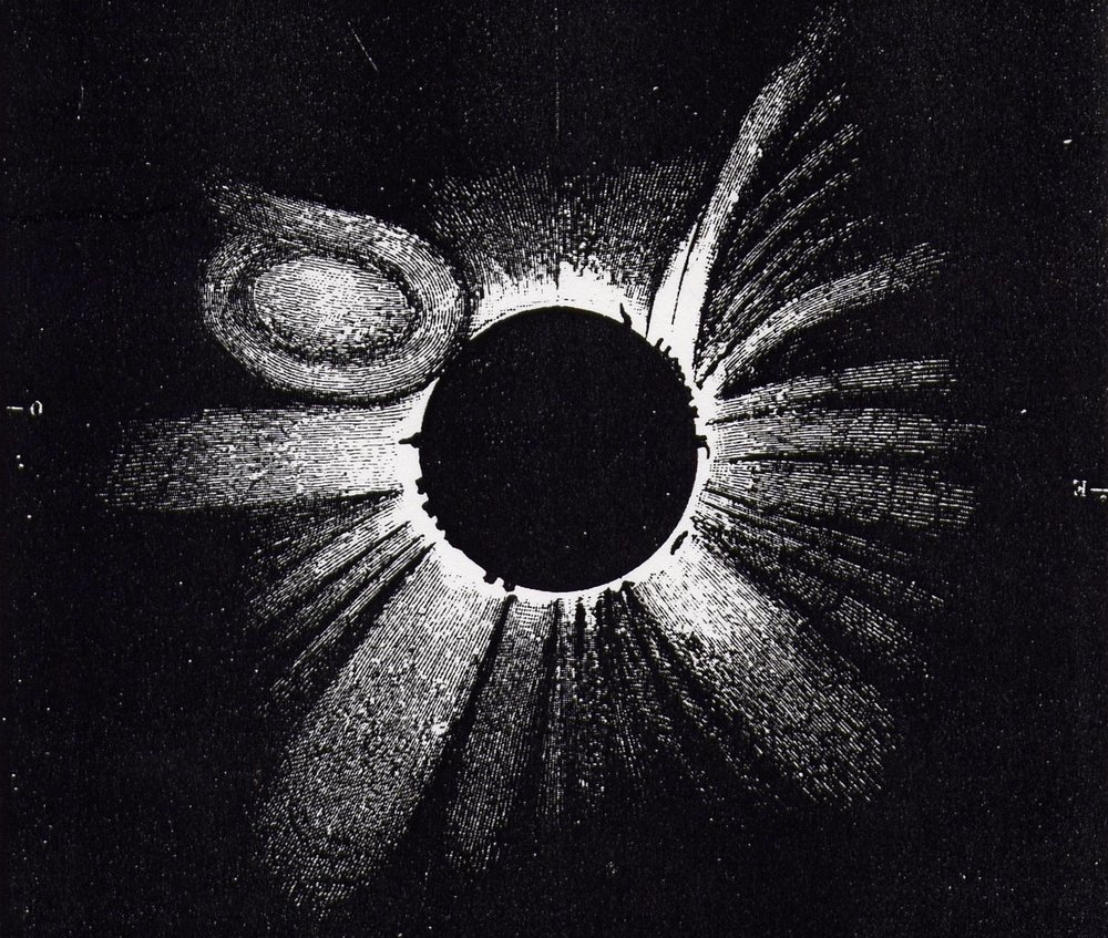 G. Temple | Eclipse Sketch | 1860 | sourced via NASA.gov | Public Domain