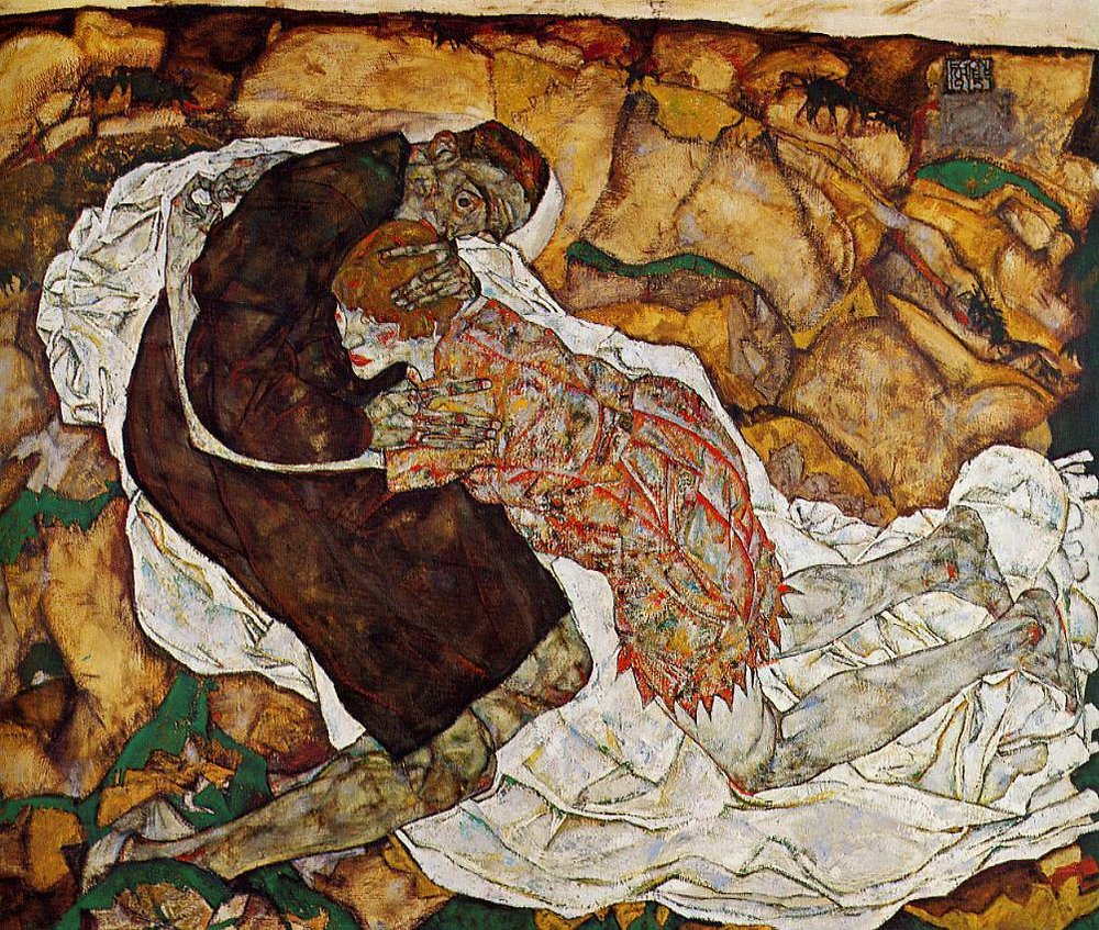 Egon Schiele | Death and the Maiden | 1915 | sourced via egon-schiele.com