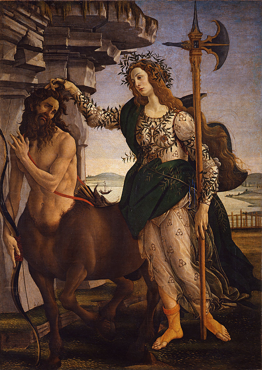 Sandro Botticelli | Pallas and the Centaur | 1418 | sourced via Wikimedia.com