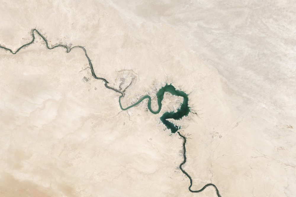 Bird's Eye View of the Euphrates River | image sourced via pxhere.com