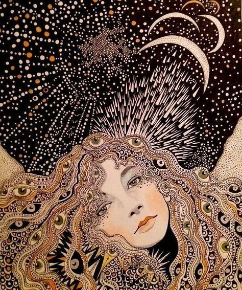 Kate Bush | Art by Daria Hlazatova | www.dariahlazatova.com | sourced via Instagram