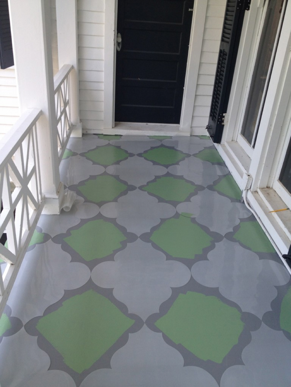 Painted Porch Floor — sunny stack goode