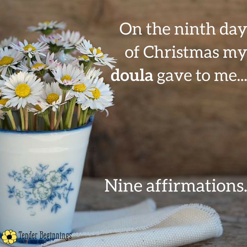 Doula Christmas- Affirmations