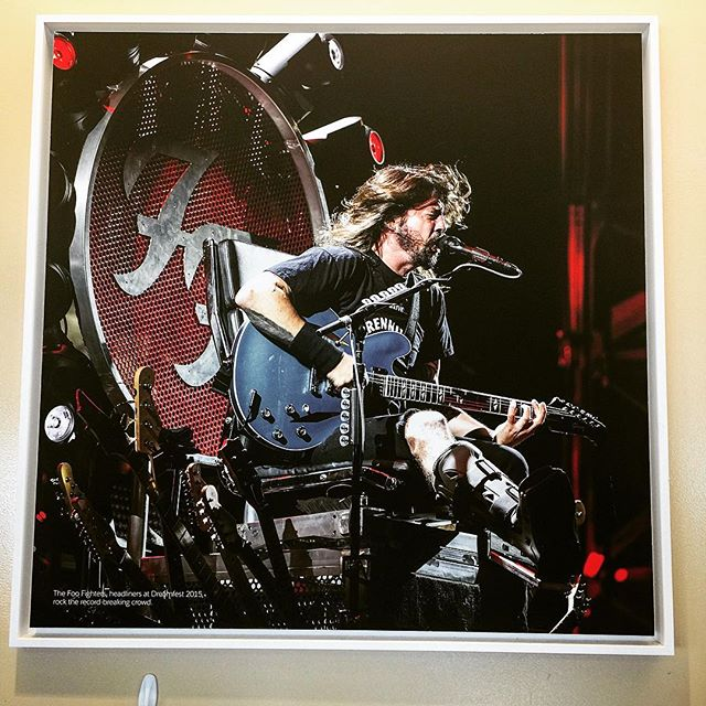 Not many companies have a photo of Dave Grohl on the wall, let alone him rocking it with a broken leg. Dreamforce '15 was such a blast!