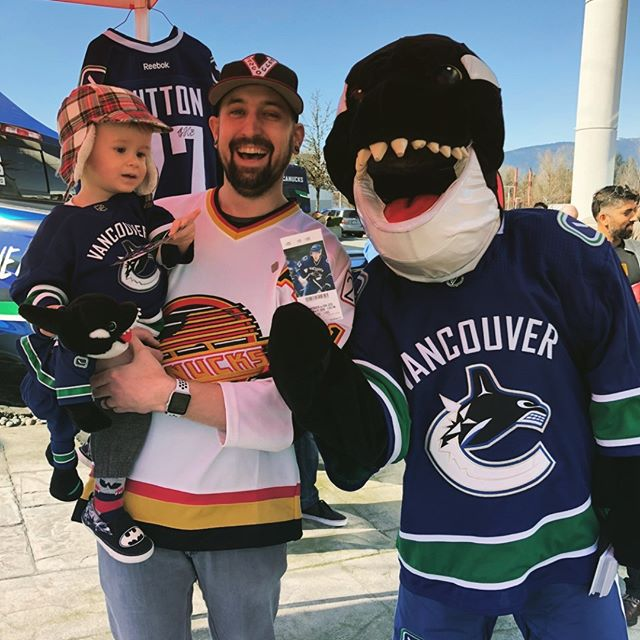 Rupert was excited to score some Canucks tickets this weekend. Thanks Fin!