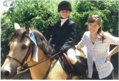 Cathy Lauderbaugh teaches horseback riding lessons for children and adults in Boulder County Colorado.