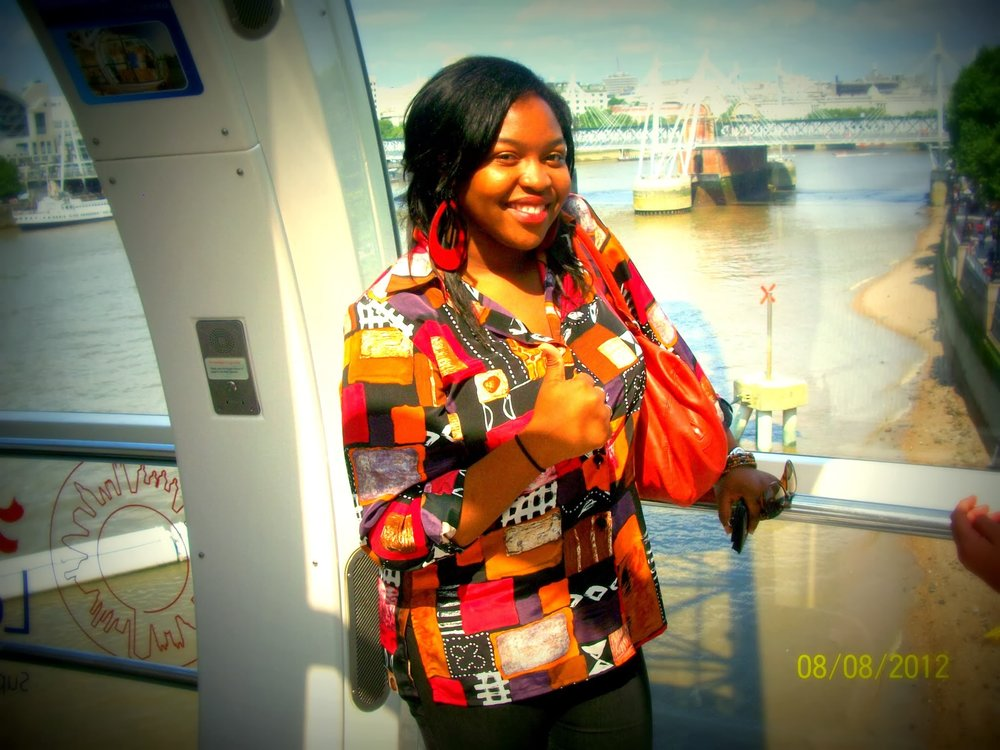 Riding the London Eye-August 2012