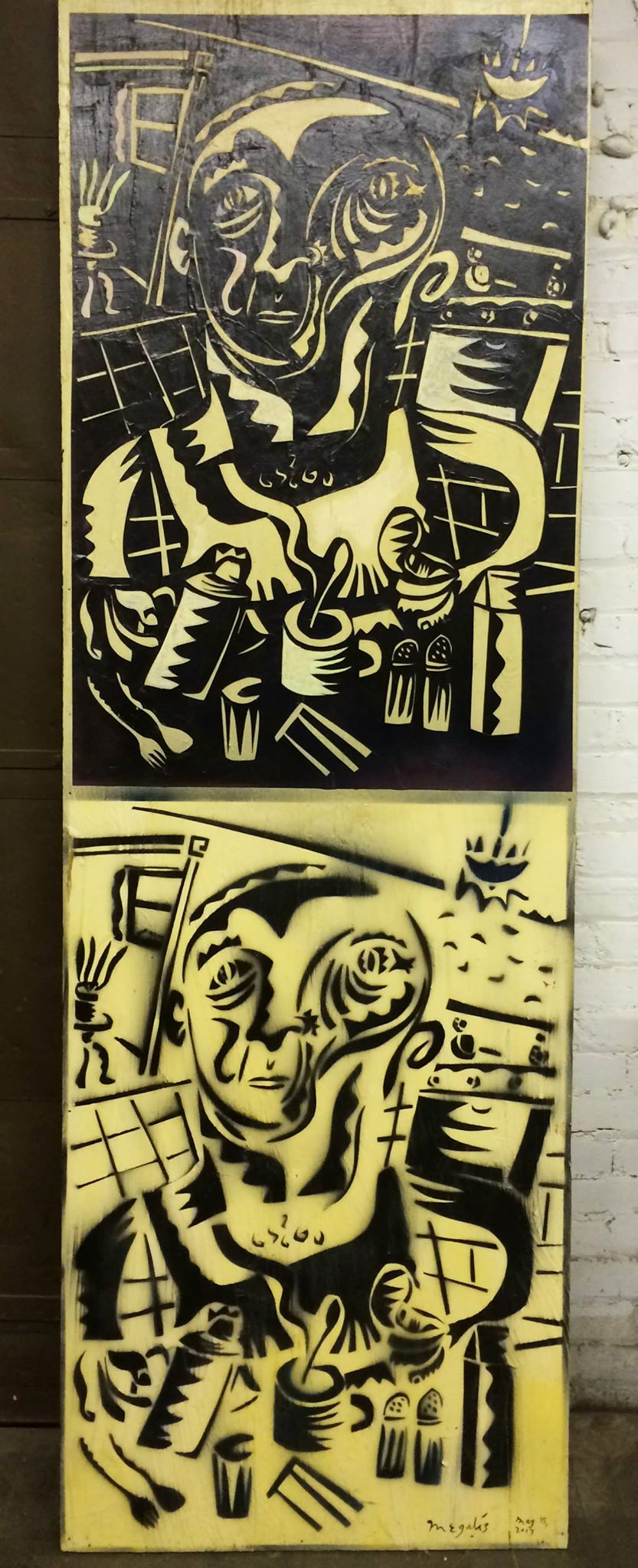 Nikos_Breakfast_paper_spraypaint_wood_60x30_.jpg