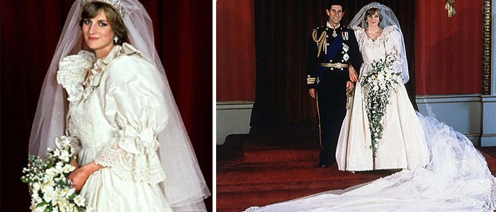 Princess Dianas Wedding Gown Is One Of The Most Recognized Gowns In History When She Wed Prince Charles 1981 Full Sleeves Were Very Popular