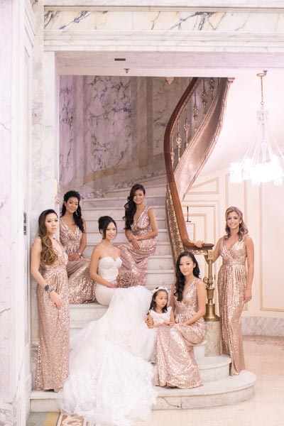 If you are having a formal affair, you may want to capture a formal shot with your girls