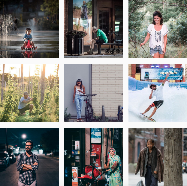 Example of Roaming Focus' Instagram account. Check out their   Shooting Humans   Project.