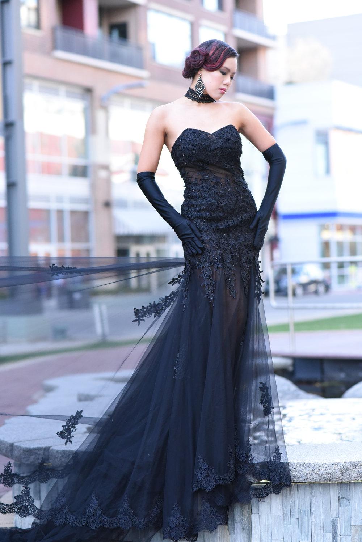 Ashish Shah Bella Boutique Victoria M Ng Black Gown 1 copy 2.jpg