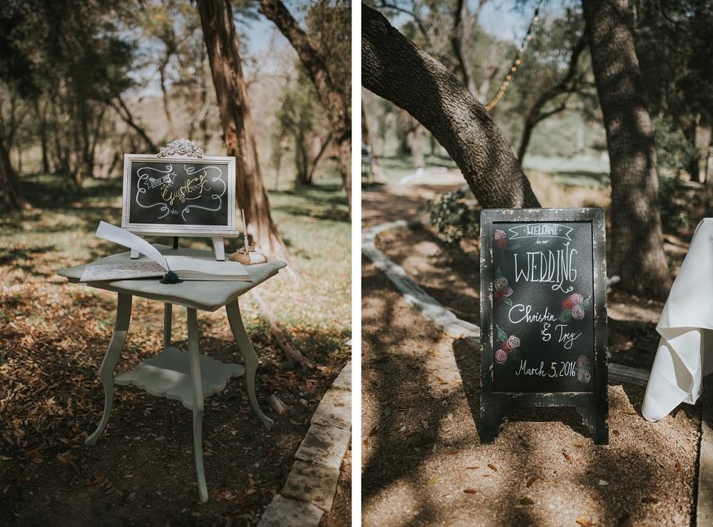 Blue Rock Estate Wedding Details