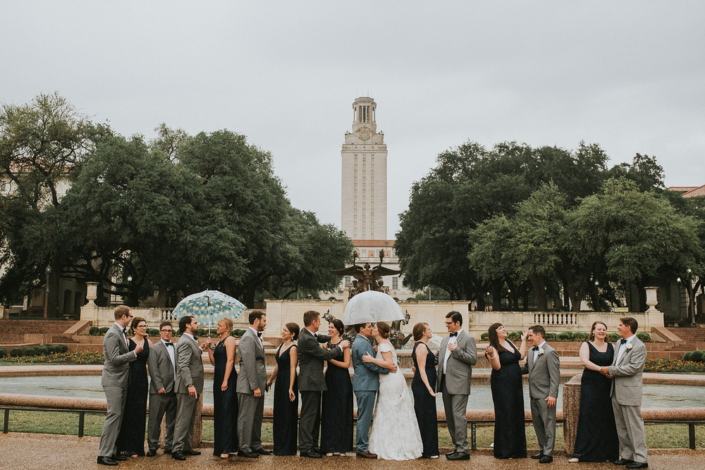 University of Texas at Austin Tower Wedding Party