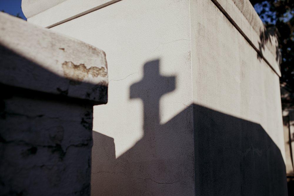 Lafayette Cemetery Cross Shadow
