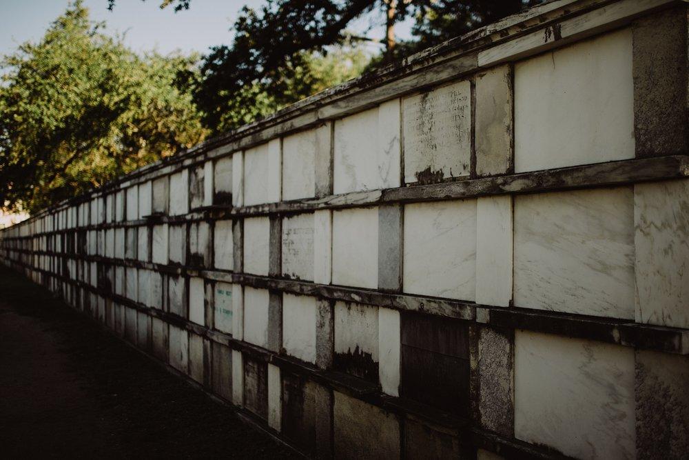 Lafayette Cemetery Wall