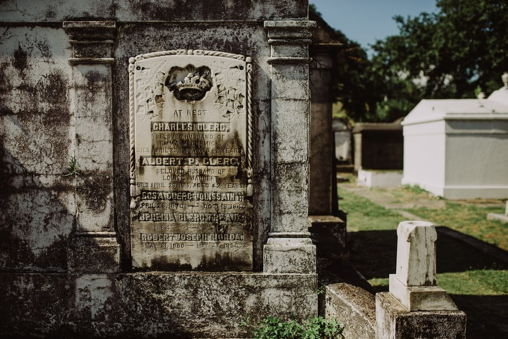 Lafayette Cemetery Charles Clerc