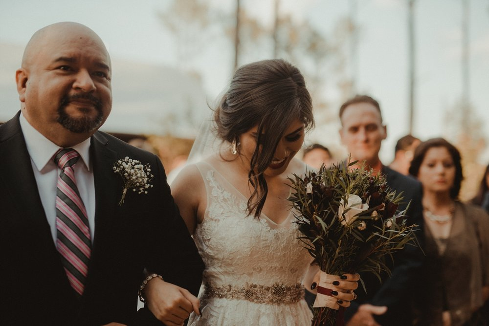 Bride walked down the aisle at houston wedding